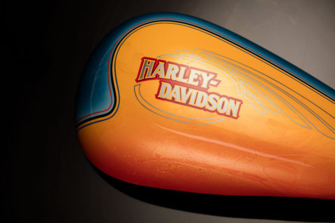 Harley-Davidson Orange and Blue